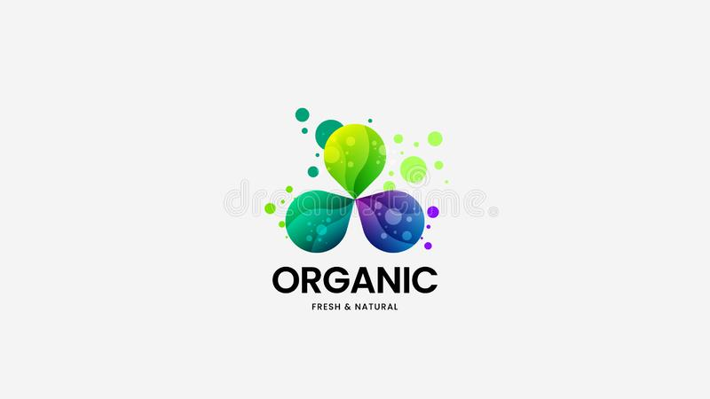 Organic food vector logo sign for corporate identity. Logotype emblem illustration. Natural and healthy badge design layout. royalty free illustration