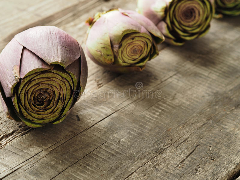 Organic food on wood stock photography