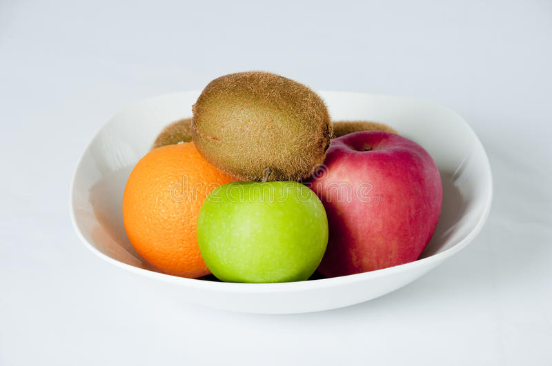 Organic Fruit. On a white background stock images