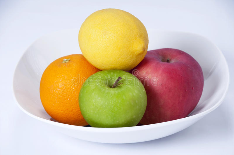 Organic Fruit. S and foods with high vitamin royalty free stock photos