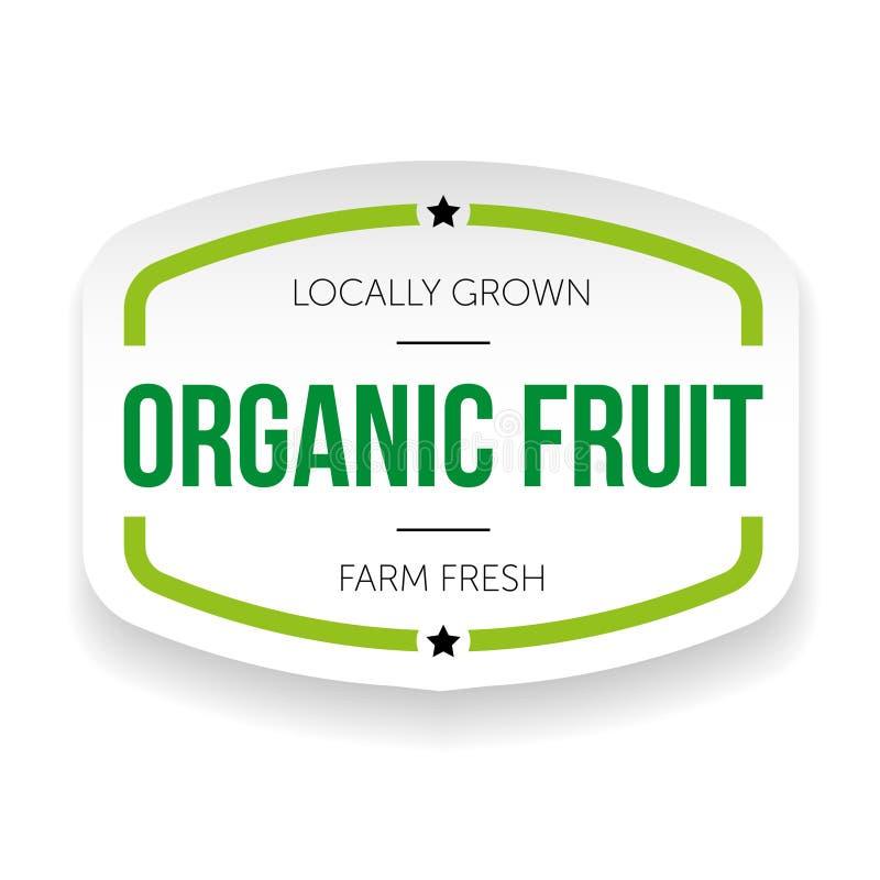 Organic fruit vintage label stock illustration
