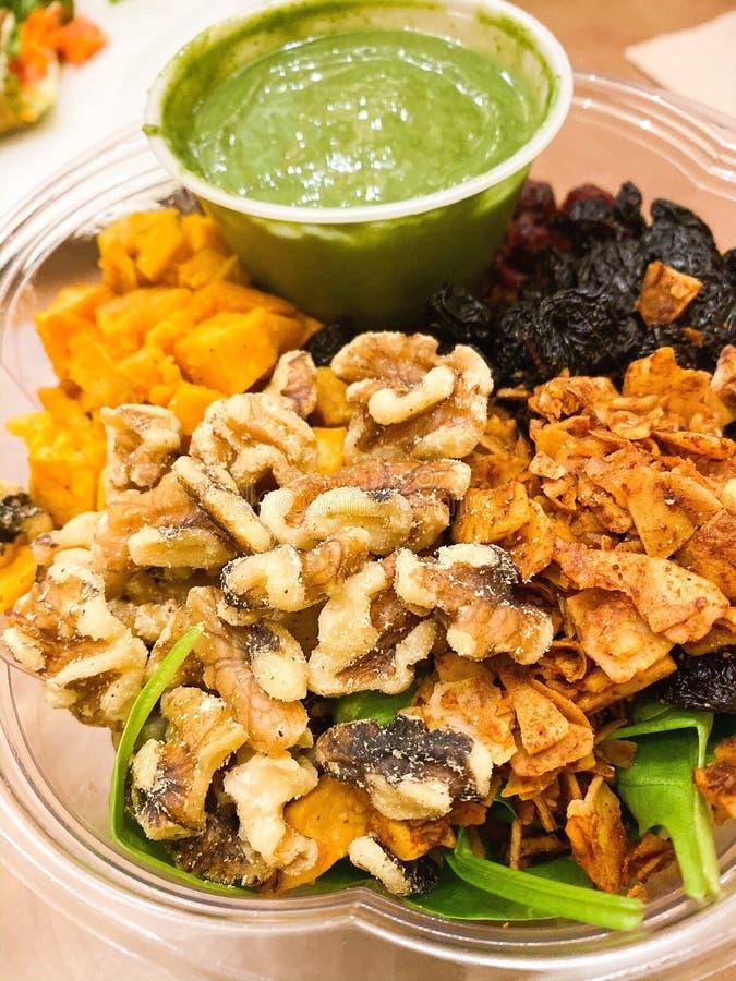 Organic Green Goddess Salad Bowl royalty free stock photo