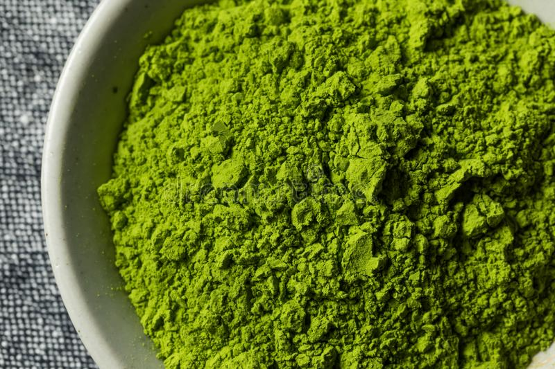 Organic Green Tea Matcha Powder royalty free stock photos