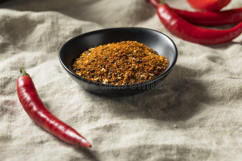 Organic Japanese Seven Spice Shichimi stock photo