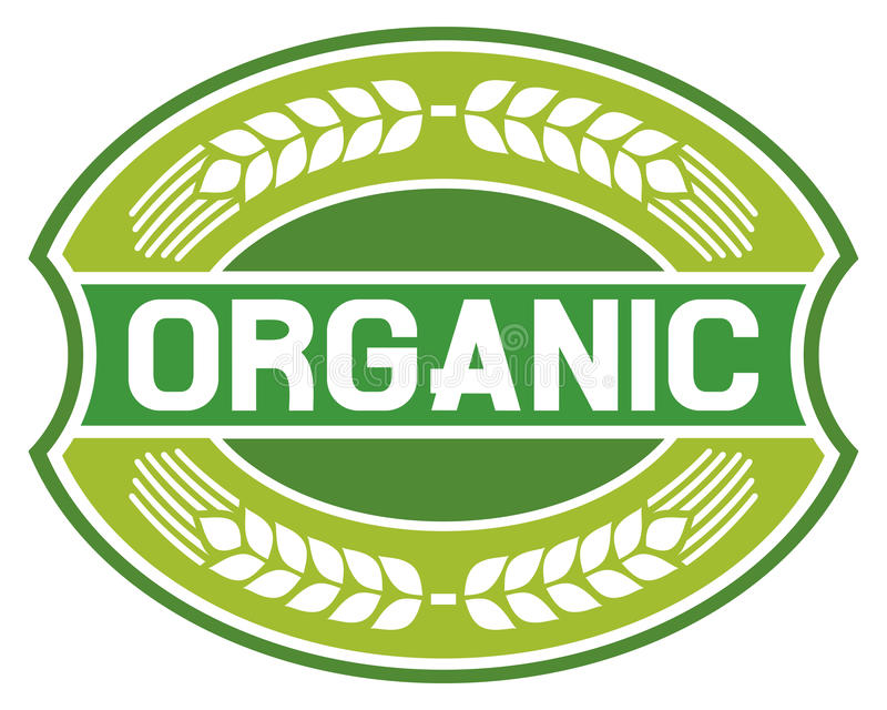Organic label stock illustration