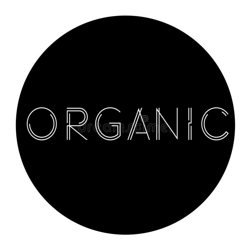 Organic label , stamp. Organic label on white background , typographic design stock illustration
