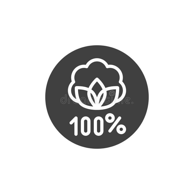 Organic linen label vector icon. Filled flat sign for mobile concept and web design. Linen natural 100 hundred percent glyph icon. Symbol, logo illustration vector illustration
