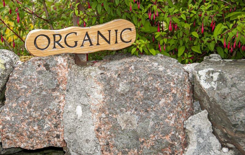 Organic sign on Isle of Iona,near Mull, Argyll and Bute,Scotland,UK. royalty free stock photos