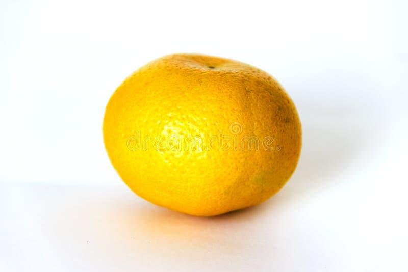 Organic mandarin orange. Isolated on white background. Close up. royalty free stock photography
