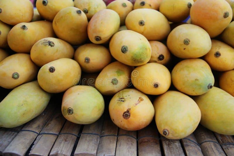 Sweet Yellow Mango. Fruit Market royalty free stock photography
