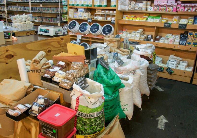 Organic Market Stall stock photo