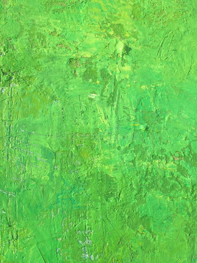 Organic matter summer background with green spring painting texture. Organic matter background with green painting textures for eco shop, organic and bio food royalty free stock photo
