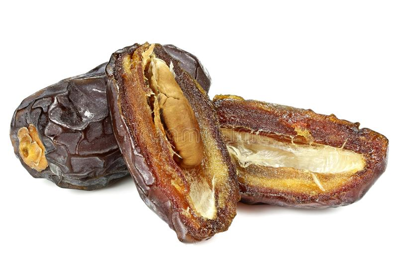 Medjool dates. Organic Medjool dates from Israel isolated on white background stock photography
