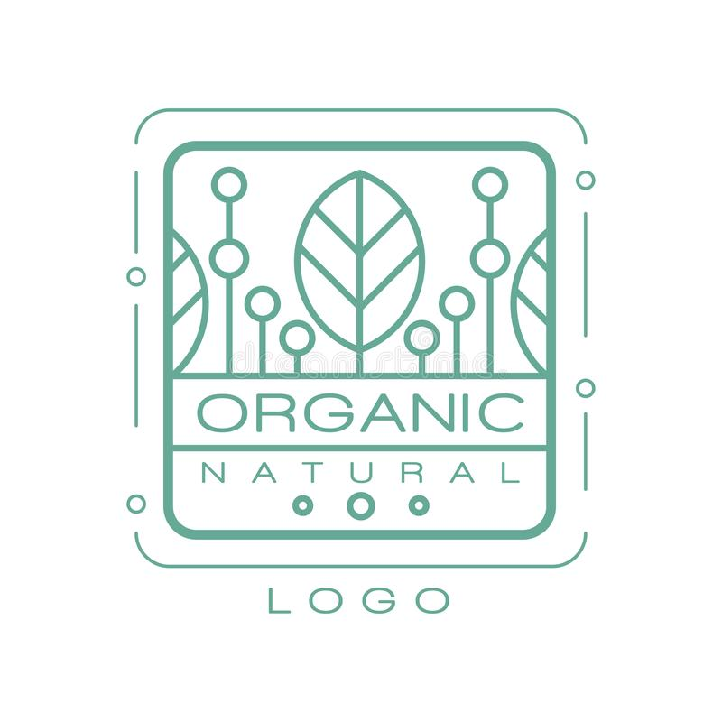 Organic natural logo, design element for healthy products, natural cosmetics, premium quality food and drinks, packaging. Vector Illustration isolated on a vector illustration