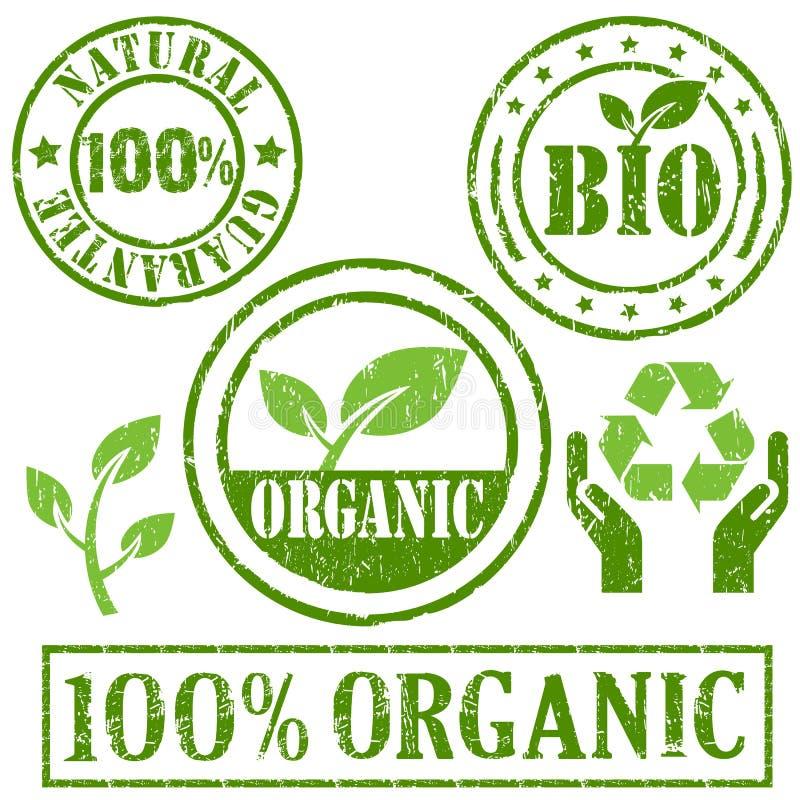 Organic and natural symbol stock illustration