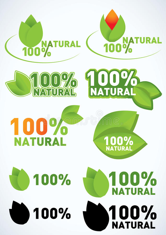 Download Organic and natural symbol stock vector. Image of label - 18219979