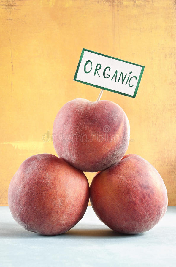 Organic Peaches stock photo