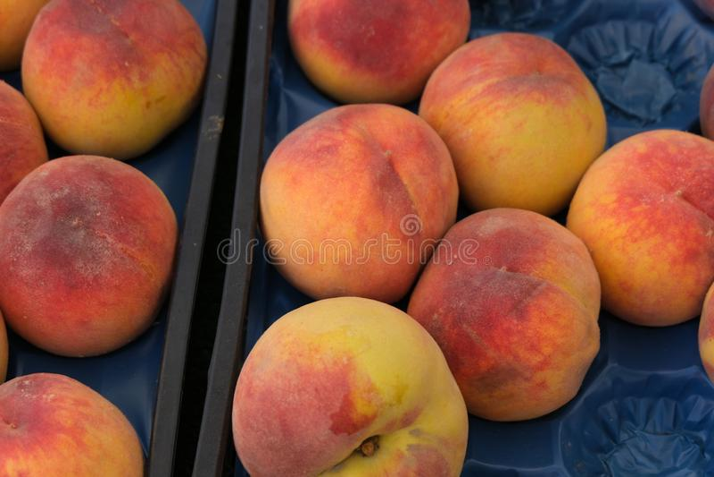 Organic peaches royalty free stock photo