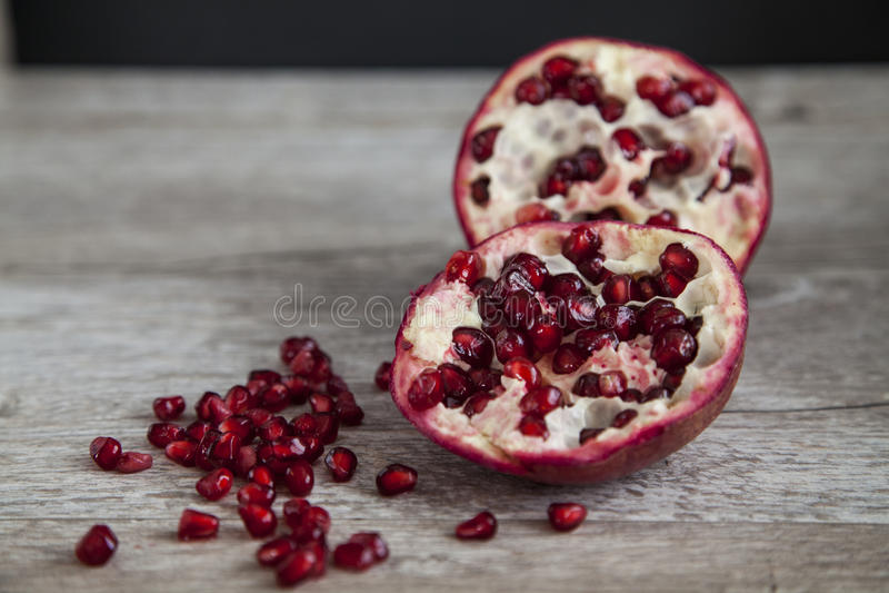 Organic pomegranate stock photos