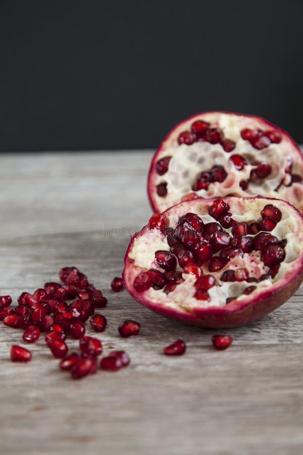 Organic pomegranate royalty free stock photo