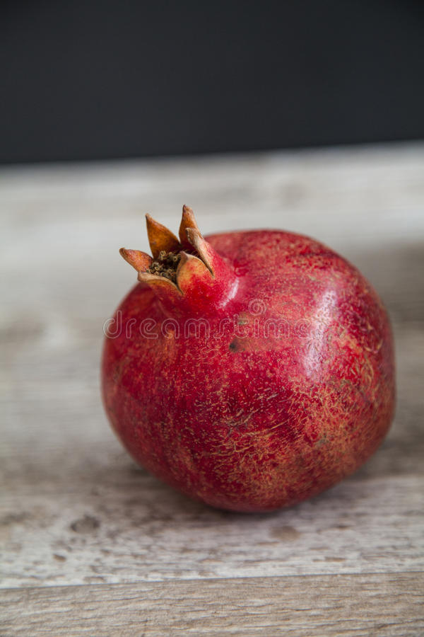 Organic pomegranate royalty free stock image