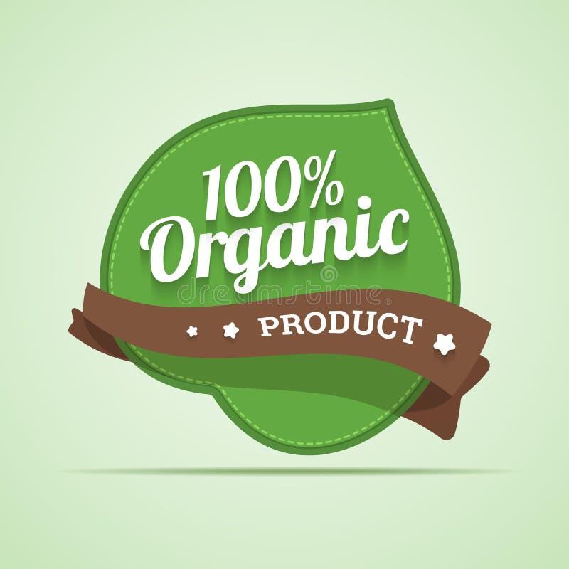 Organic Product Label. Stock Vector