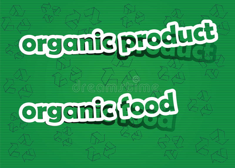 Organic product and organic food. Realistic cut, takes the background color stock illustration