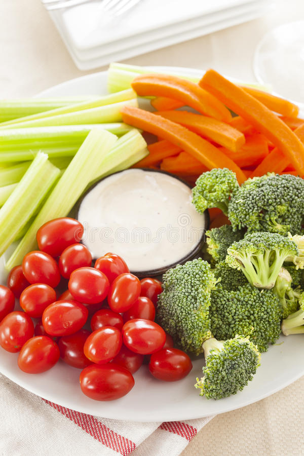 Download Organic Raw Vegetables With Ranch Dip Stock Photo - Image: 37976538