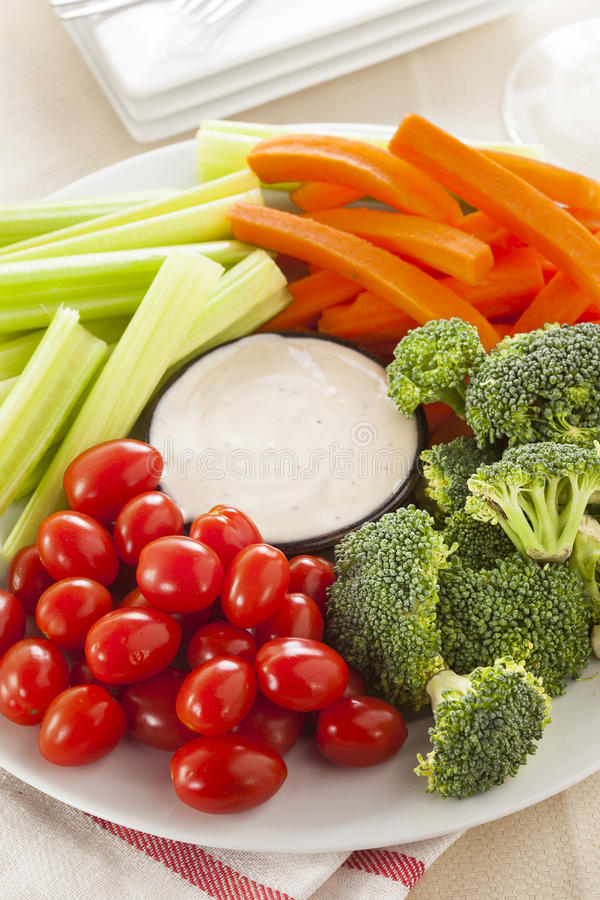 Download Organic Raw Vegetables With Ranch Dip Royalty Free Stock Photo - Image: 37976565