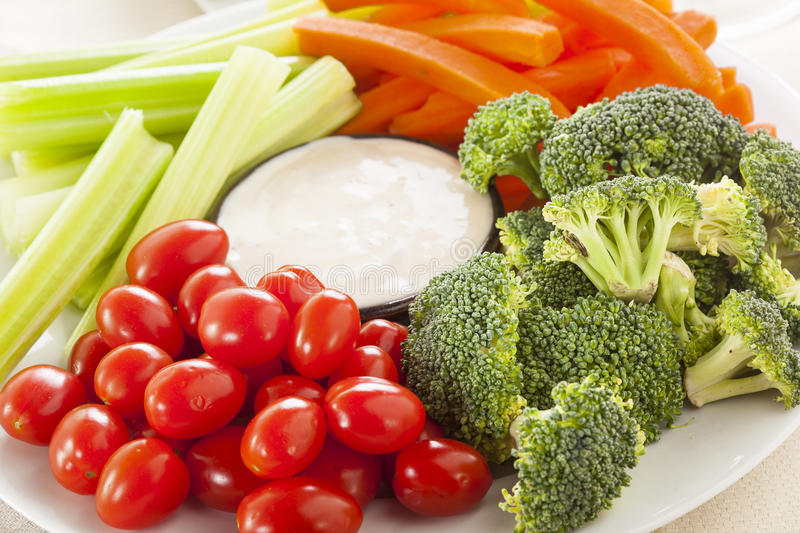 Download Organic Raw Vegetables With Ranch Dip Stock Photography - Image: 37976572