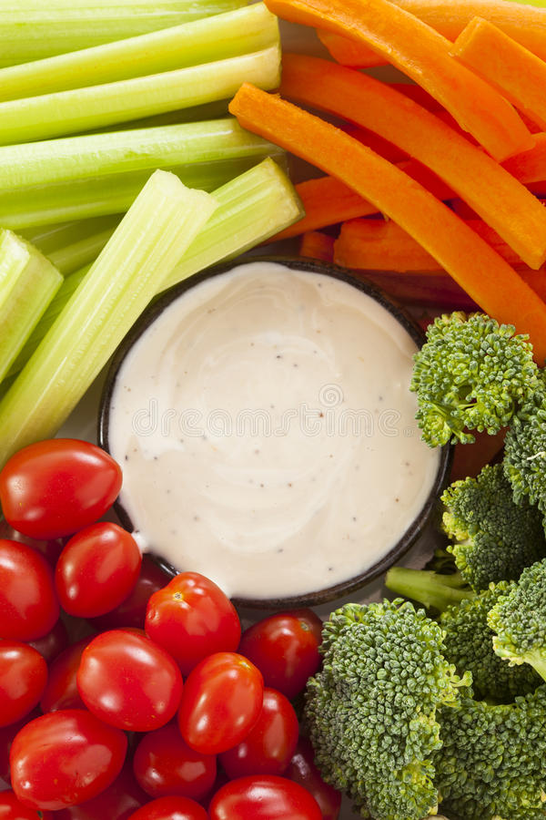 Download Organic Raw Vegetables With Ranch Dip Stock Image - Image: 37976613