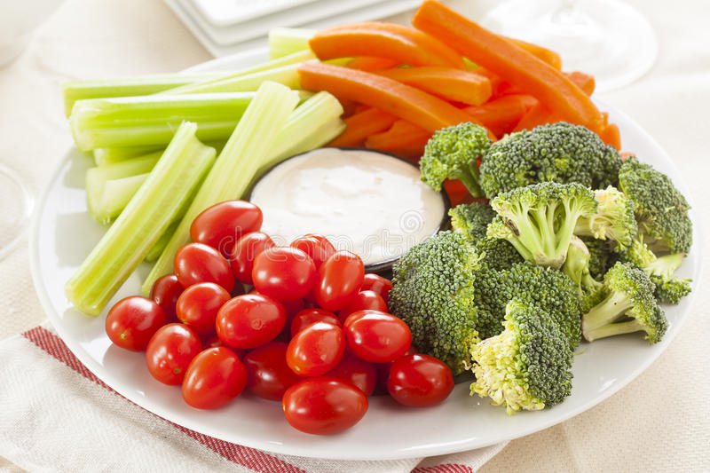 Download Organic Raw Vegetables With Ranch Dip Stock Photo - Image: 37977150