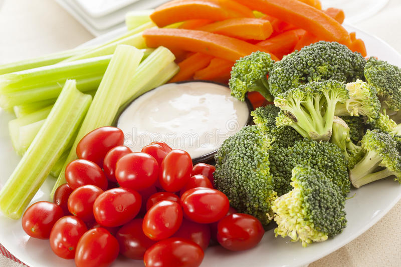 Download Organic Raw Vegetables With Ranch Dip Stock Photo - Image: 37977152