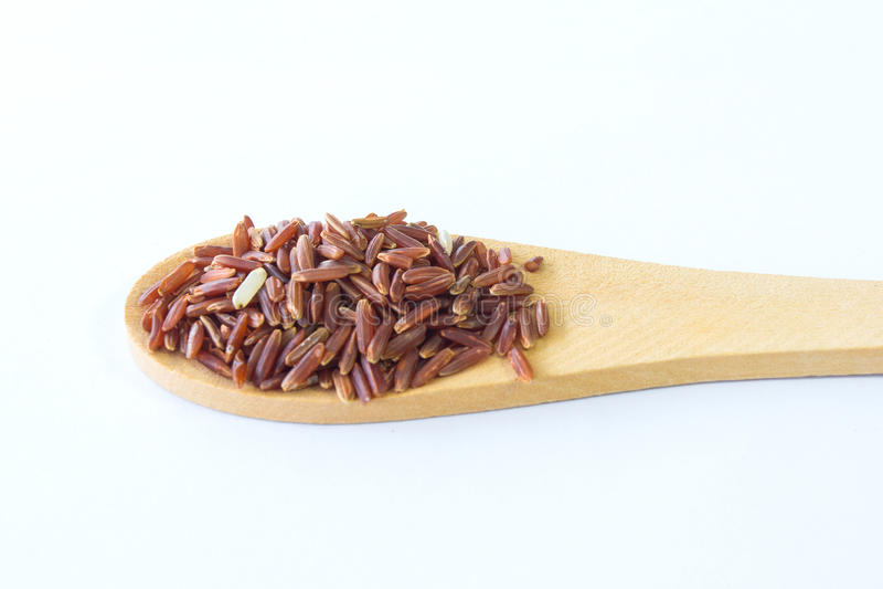 Organic Riceberry Rice (black jasmine rice) royalty free stock image
