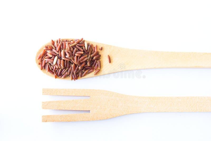 Organic Riceberry Rice (black jasmine rice) royalty free stock photos