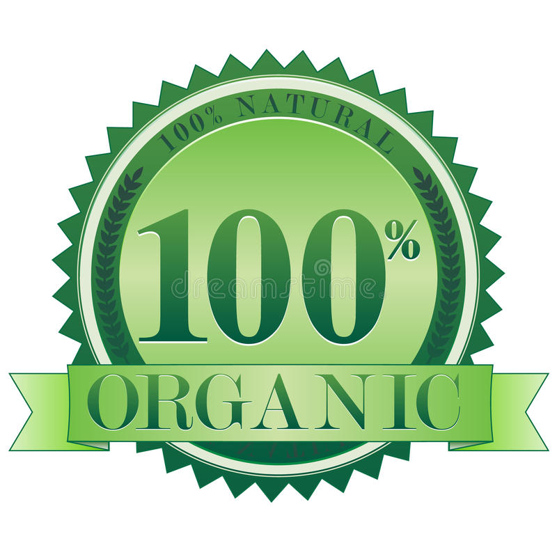 Organic Seal EPS. A 100% natural, 100% organic seal. Available in vector EPS format