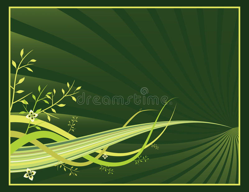 Organic Spring Banner vector illustration