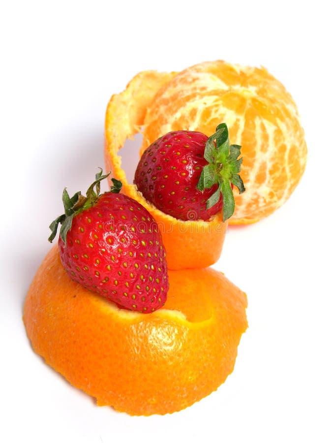 Organic Tangerine peeled stock image