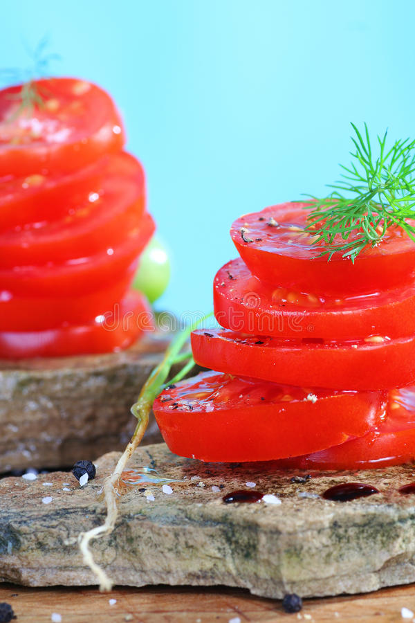 Download Organic tomatoe salad stock photo. Image of salt, black - 11590668