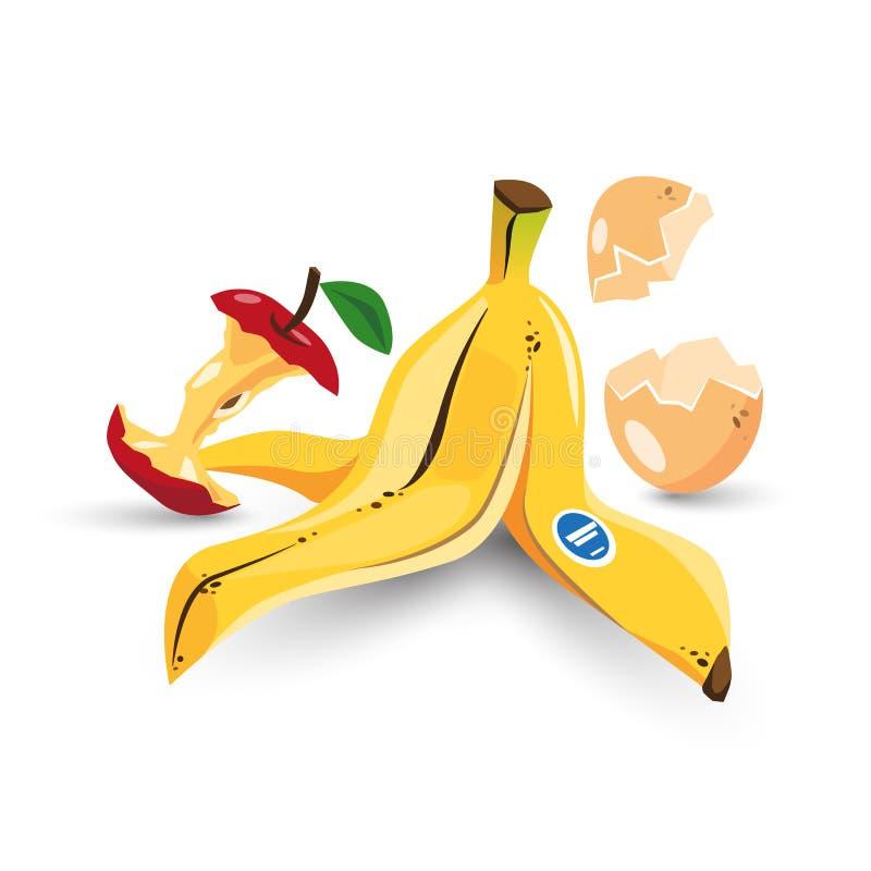 organic trash stock vector illustration of garbage banana clipart images Cartoon Banana