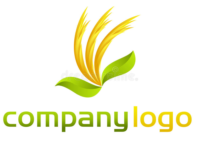 Organic vector logo - leafs and flames. Illustration representing a organic vector logo