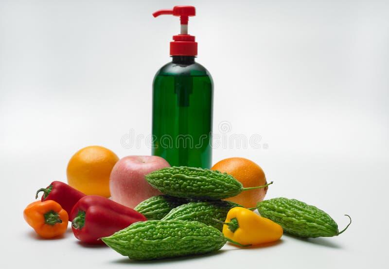 Organic vegetable wash stock image