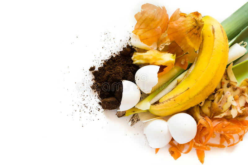 Organic waste to make compost stock photography