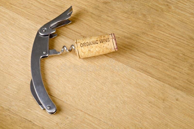 Organic Wine Cork On A Corkscrew Stock Photography
