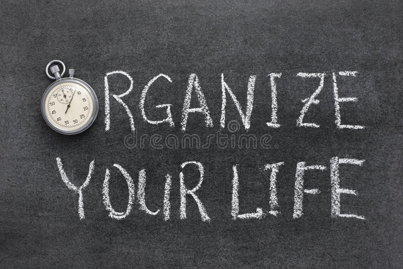 Organice su vida imágenes de archivo libres de regalías