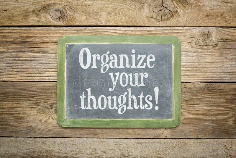 Organice sus pensamientos foto de archivo libre de regalías