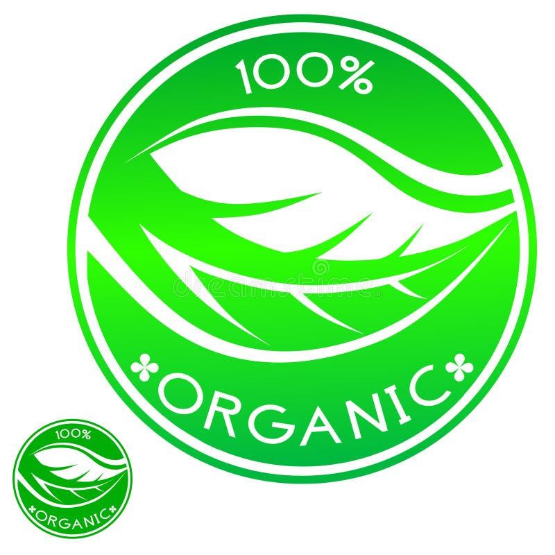 100% organico illustrazione di stock