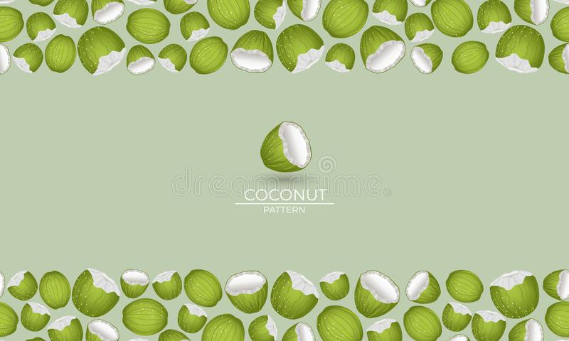 Organico verde della noce di cocco illustrazione di stock