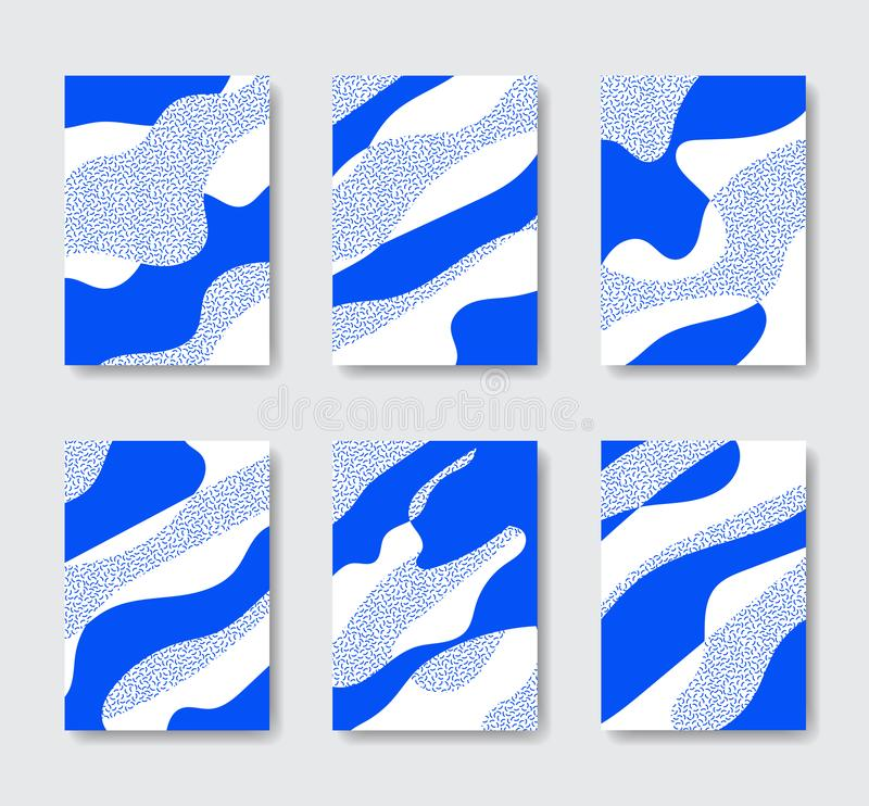 Organicznie Abstrakcjonistyczna tło kolekcja royalty ilustracja