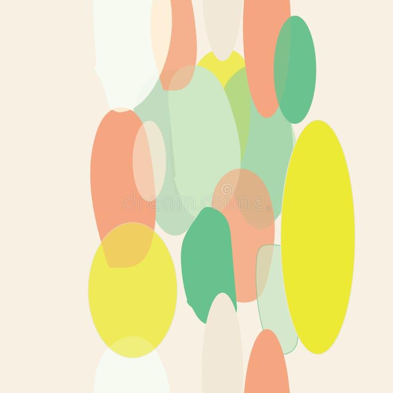 Organicznie abstrakcjonistycznej nowożytnej żółtej zieleni pomarańcze granicy seameless wzór ilustracja wektor